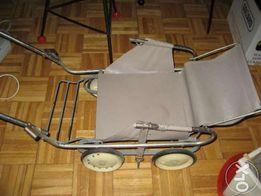 antyk,zabytkowy wózek dla lalek lata 60-PRL-spacerówka