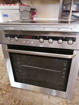 AEG Oven thermofan and hob for sale R1500