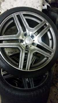 Image of 19 Inch Mercedes Rims and Tyres, 265/30R19. Bargain price.