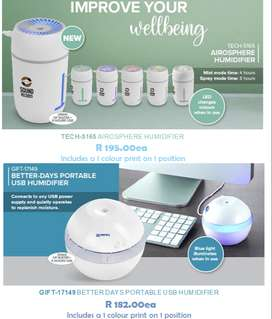 Humidifiers Available - Atmosphere and Portable