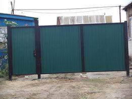 Ворота металлические, кованые, из профнастила. От 1500 рублей за кв.м.