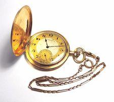Złoty Zegarek Kieszonkowy z Dewizką Paul Moser