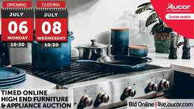 TIMED ONLINE HIGH-END FURNITURE & APPLIANCE AUCTION