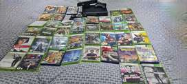 Xbox 360 with Kinect and 40 games