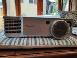 Panasonic HD LCD Projector with Framed Screen