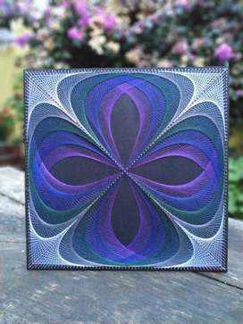 Orchide String Art Wall Hanging