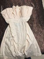 Платье с рюшами пудрово розовое Размер М одежда женская сукня рожева