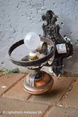 ANTIQUE STEEL WALL LAMP