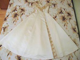 Платье свадебное классика с золотом