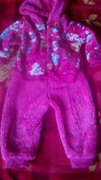 тепленький костюм для малышки