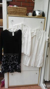 Kosulja pamucna i crna i bijela haljina, sve 152 broj 0