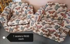 Upholstered 1 seaters
