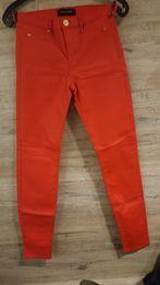 czerwone woskowane spodnie roz. 34 River Island nie ZARA