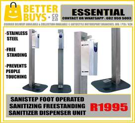 Senistep is an inventive sanitizing dispensing unit that was recently