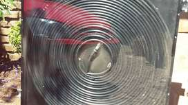 Glass covered solar water heater panels x3