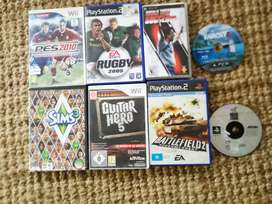 Playstation and Wii games