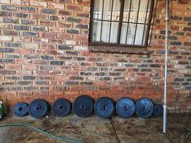 Olympic bar and weights