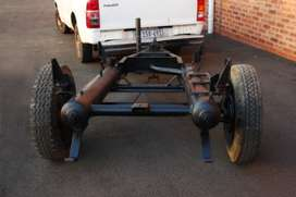 Trailer solid chassie with tyres