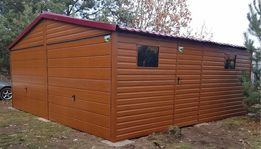 6x6 garaż blaszany, poziomy panel, blaszak, garaże blaszane, hala,