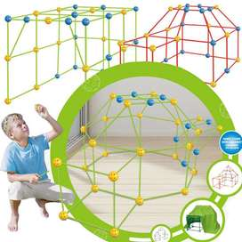 Fort Building Kits for Kids (,Build Tunnels Tents for Indoor/Outdoor)