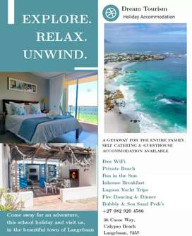Stunning Beach Front Accommodation for the School holidays