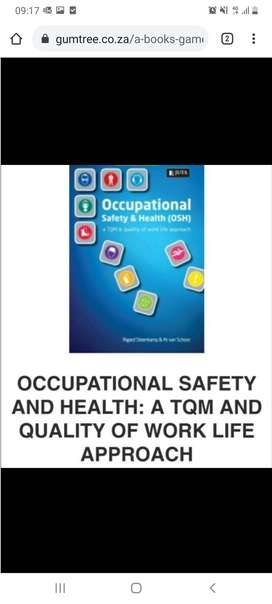 Unisa textbook Occupl Safety and Health quality of work life approach