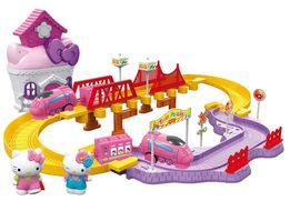 Hello Kitty железная дорога, с мебелью и паравозом Хелло Китти