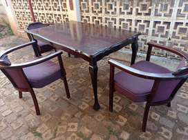 Dinning table with three chairs