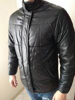 Gianfranco Ferre GFF Италия кожаная шкіряна как пуховик зимняя куртка