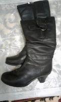 Шкіряні зимові (на цегейці) жіночі чоботи, розмір -38, відмінний стан