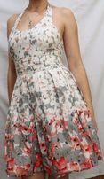 Цветное платье с маками (размер 38 / М-L)