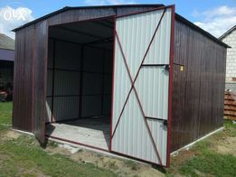 WIATA blaszana 6x10 - dach DWUSPADOWY garaże blaszane, garaż blaszany