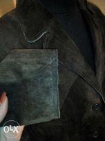 Замшевая кожаная куртка пиджак