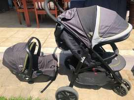 Joie Baby Travel System with Weather Protection  - Excellent Condition
