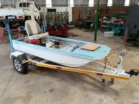 3.1 metre Fishing Boat with 15hp Yamaha Outboard Motor
