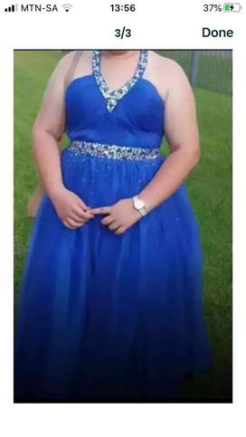 Blue ballgown dress