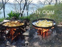Сковорода садж для костра из диска бороны, мангал, жаровня барбекю ОПТ