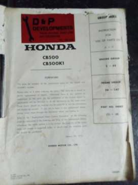 Honda CB500 CB500K1 Motorcycle workshop manual