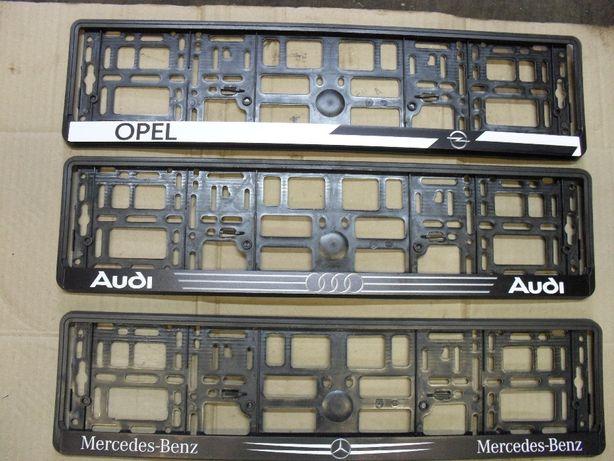 Рамка номерная БМВ М/// Мерседес Опель Ауди рамки для номерів BMW Борисполь - изображение 2