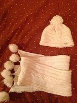 Шапка + шарф GEOX на девочку размер М. Весна- осень