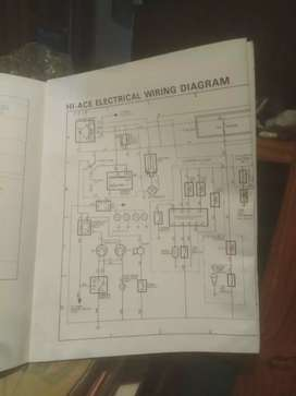 Toyota Hi Ace 1979, electrical wiring diagram