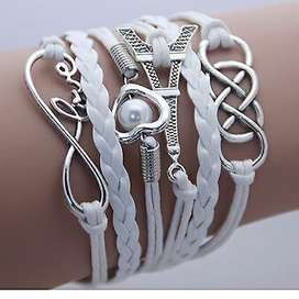 Ladies charm bracelets, spike