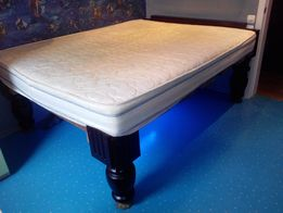 Деревянная кровать с матрасом(зима,лето) с подсветкой.160/200