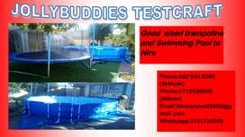 Swimming Pool, Trampoline and Artificial Lawn for hire