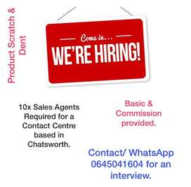 Experienced Sales Agents Required