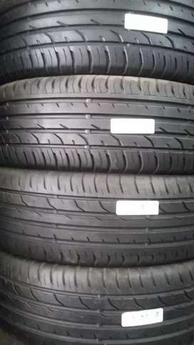 4 × 215/55/18 continental tyres for sale