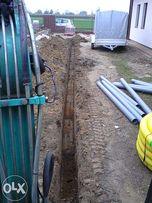 Usługi minikoparką kanaliza,woda,drenaż.