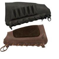 Патронташ на приклад кожаный, подарочный со щекой , на 6 патронов