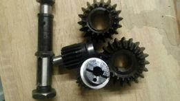 Комплект валов и шестерен для редукторов привода косы Шумахер
