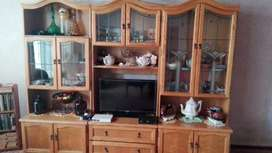 Three piece wall unit and grand faders clock